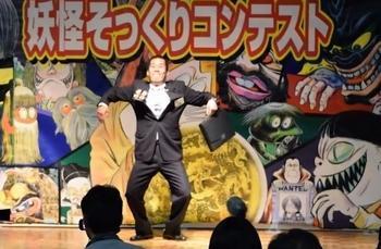 「サラリーマン山田」を演じた、航空自衛隊美保基地の自衛官小池大介さん
