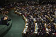 国連総会で演説するアメリカのオバマ大統領