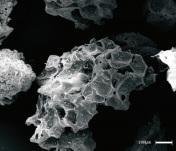 火山灰の拡大写真