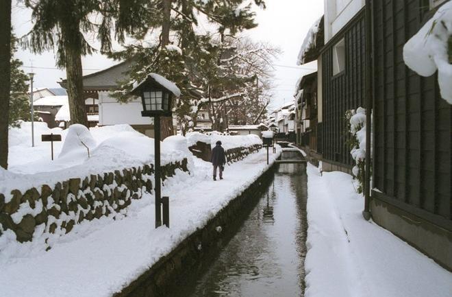 ドラマの舞台となった岐阜・古川の雪景色
