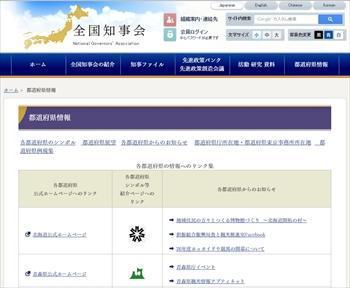 全国知事会のサイト。全都道府県の「シンボル」が掲載されている