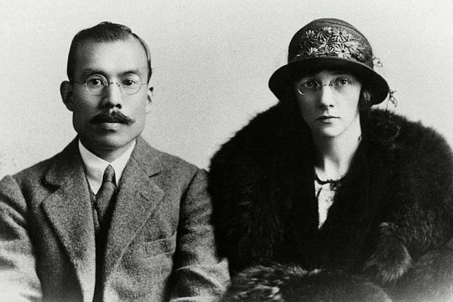 結婚直後の竹鶴政孝・リタ夫妻(1920年ごろ)=ニッカウヰスキー提供
