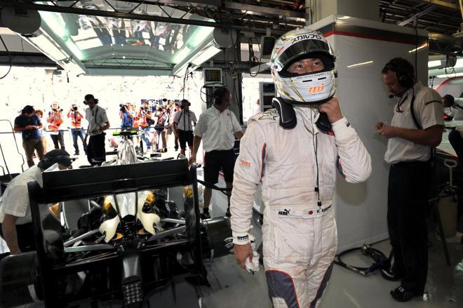 F1ドライバー・小林可夢偉選手=2010年10月8日