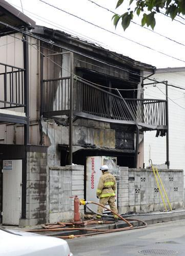 全焼したビッグダディの整骨院兼住宅