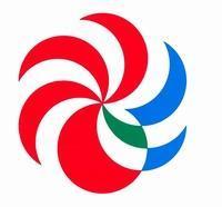 愛媛県の県章。赤は太陽とみかんなどを現している。県旗に比べると出番は少ない