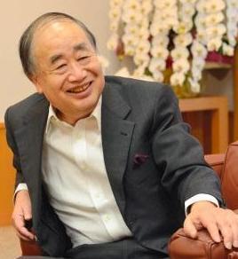KADOKAWAの角川歴彦会長=2013年10月21日、上原佳久撮影