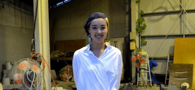 彫刻家の大野綾子さん