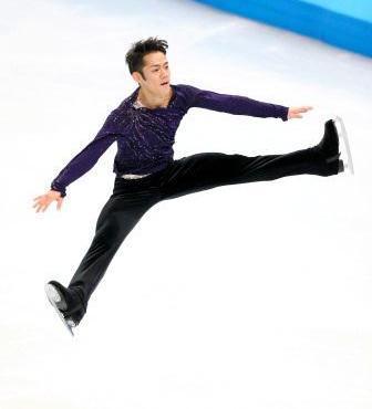 ソチ五輪、男子フリーで演技をする高橋大輔=2014年2月14日、川村直子撮影