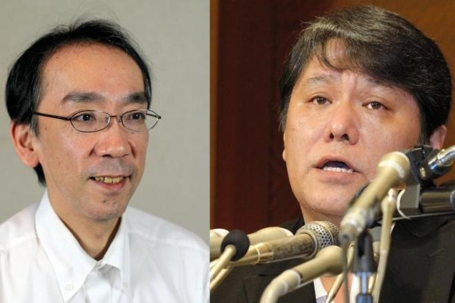 新垣隆さん(左)と佐村河内守さん