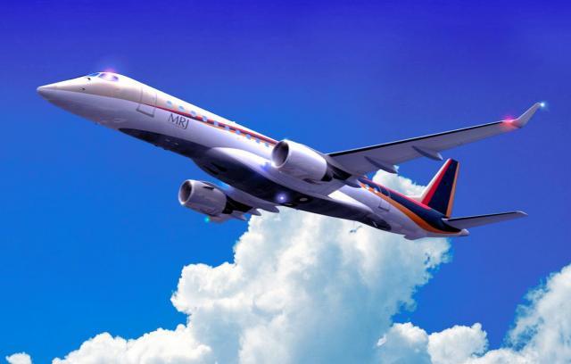 MRJ(ミツビシ・リージョナル・ジェット)の完成イメージ=三菱航空機提供