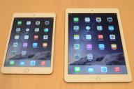 iPad Air2(右)とiPad mini3=篠健一郎撮影