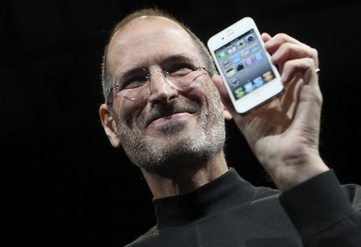 2010年6月4日、iPhone4の発表会で=米サンフランシスコ