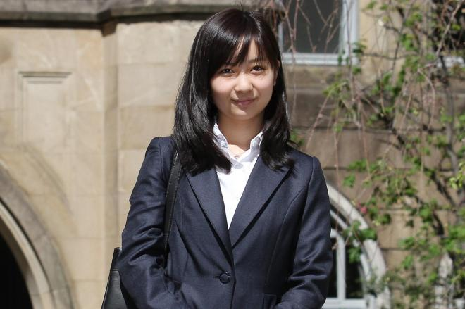 秋篠宮家の佳子さま=2013年4月、学習院大の入学当時、東京都豊島区