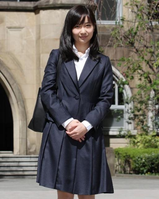 学習院大に入学した当時の秋篠宮家の佳子さま=2013年4月、東京都豊島区