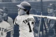 巨人のゲーリー・トマソン外野手=宮崎市営球場で