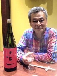 純米吟醸酒「秀一」と池田秀一さん