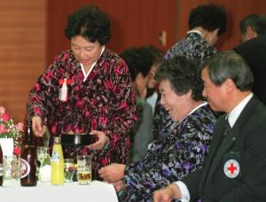 北朝鮮から里帰りした日本人配偶者=1998年1月28日