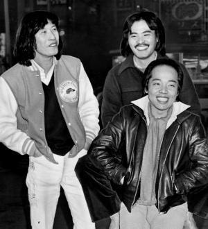 「アリス」のメンバー。右から谷村新司(ボーカル、ギター)、堀内孝雄(同)、矢沢透(ドラムス)さん=1978年12月