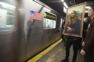 ニューヨークの地下鉄で