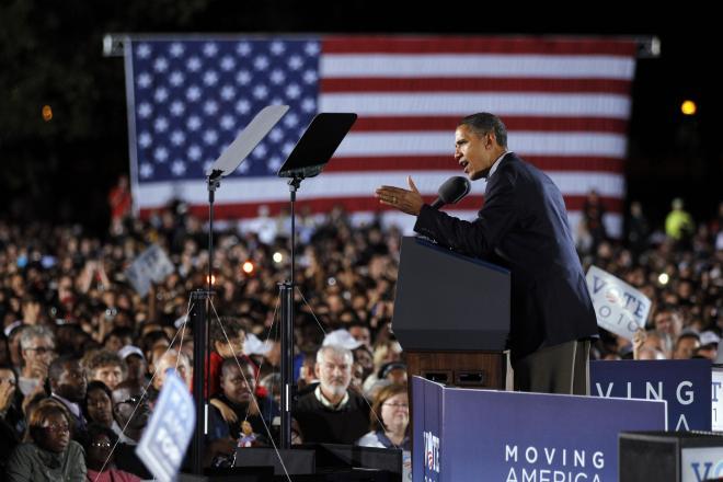演説するオバマ大統領