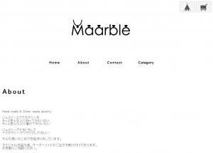 アクセサリーショップ「Maarble」のお店紹介。文章はあくまで簡潔