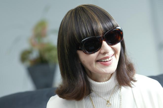 ファッションジャーナリストの第一人者だった大内順子さん=2006年8月9日