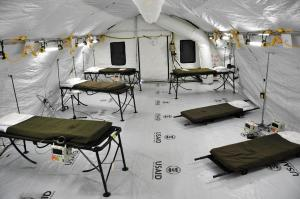 リベリアのモンロビアに設けられたエボラ出血熱の患者を治療する施設