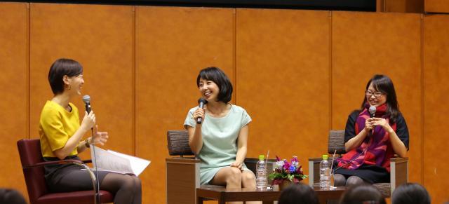 右から、宋美玄さん、東尾理子さん、司会の塚本麻里衣さん