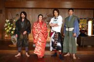 左から「信長協奏曲(コンツェルト)」に出演する山田孝之、柴咲コウ、小栗旬、向井理