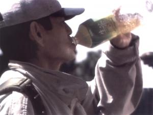 総合格闘家の宇野薫さんと共演した、キリン「生茶」のCM=キリンビバレッジ提供