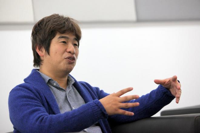 KADOKAWA・DWANGOの川上量生会長=古田大輔撮影
