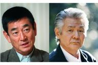 相次いで亡くなった高倉健さん(左)、菅原文太さん。新文芸坐では偶然にも2人の代表作の2本立てが予定されている