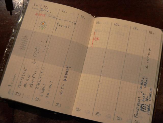 横でも縦でも使える「ブラウニー手帳」