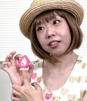 ろくでなし子さん=2014年7月29日、佐藤正人撮影