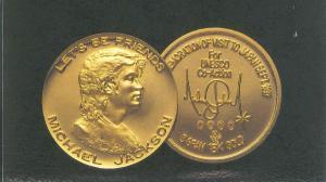 マイケル・ジャクソン本人も製作に関わったメダル