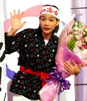 「あまちゃん」のヒロイン・アキを演じた能年玲奈さん=2013年8月1日