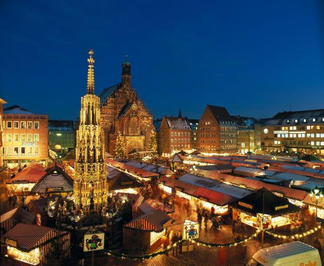 ニュルンベルクのクリスマスマーケット(c) GNTB / Cowin, Andrew