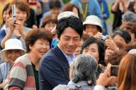 復興政務官として東北の被災地をたびたび訪れていた小泉進次郎氏=2013年10月4日