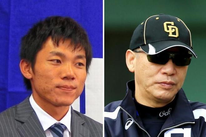 2度目の交渉でも保留した大島選手(左)。立場変わった落合GM、実は日本人で初めて調停を求めた選手だった
