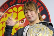 新日本プロレスのIWGPヘビー級王者・棚橋弘至さん=安冨良弘撮影