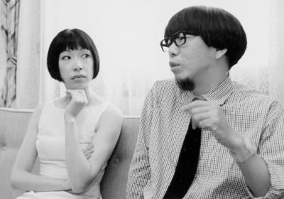 ピチカート・ファイブの小西康陽と野宮真貴=1997年5月23日