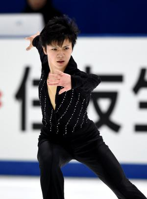 全日本選手権で総合2位になった宇野昌磨のフリーの演技=2014年12月27日、白井伸洋撮影