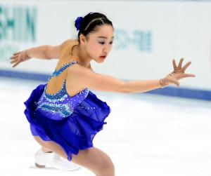 全日本選手権で3位になった樋口新葉のフリーの演技=2014年12月28日、白井伸洋撮影