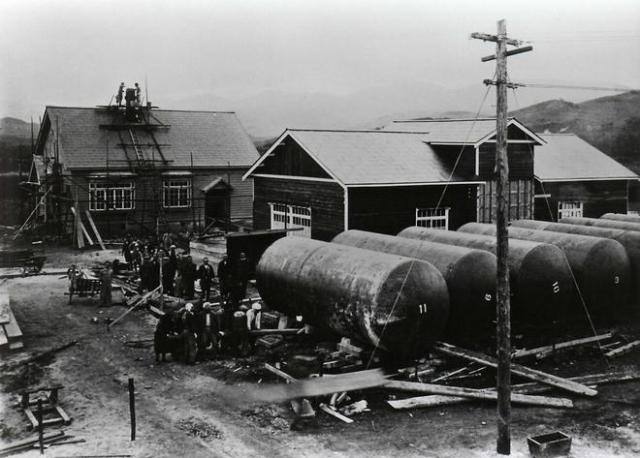 北海道余市町に設立された大日本果汁株式会社=アサヒグループホールディングス提供