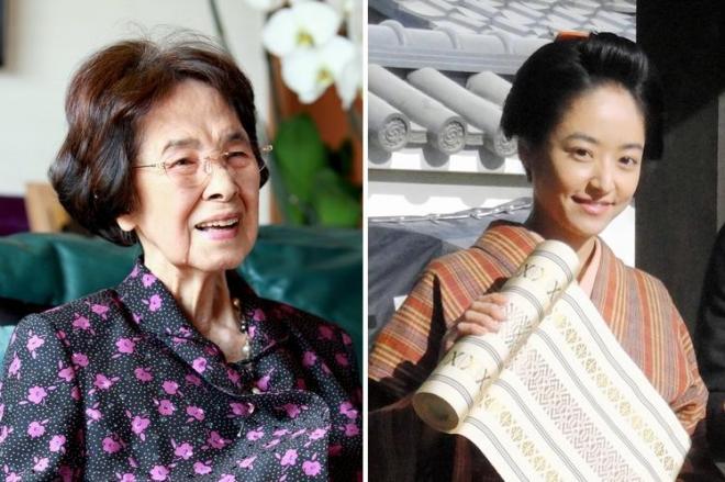 88歳で亡くなった宮尾登美子さん(左)と、「花燃ゆ」に主演する井上真央さん(右)