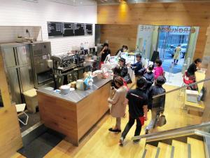 楽天が渋谷に開いたカフェ=2014年10月