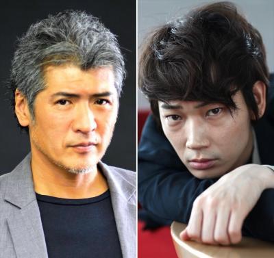「八重の桜」で西郷隆盛役の吉川晃司さん(左)、松平容保役の綾野剛さん