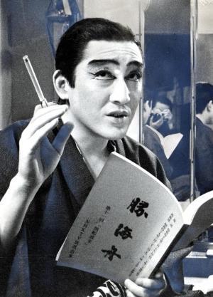 NHK大河ドラマ「勝海舟」で、途中から主役を演じた=1974年2月18日掲載
