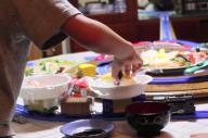 子どもたちも大喜び!プラレール回転寿司