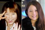 女子高生のころの鈴木涼美さんと現在(右)